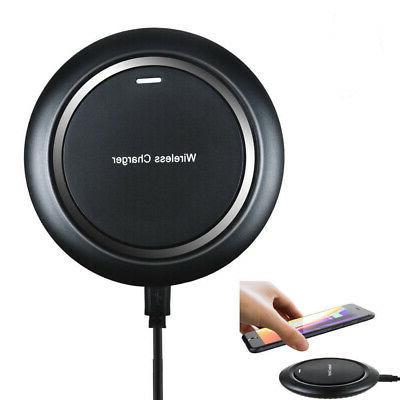 black qi wireless charger charging pad