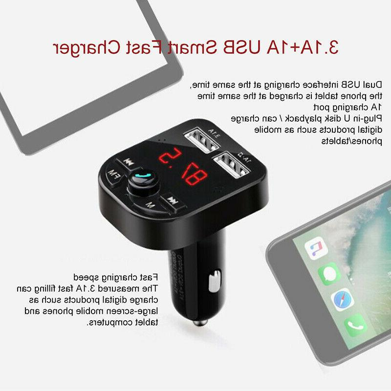 Bluetooth Car FM Transmitter Wireless Adapter MP3 Kit