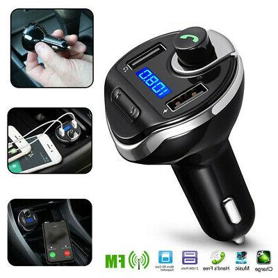 Wireless In-Car BT FM Transmitter MP3 Radio Adapter Car Fast