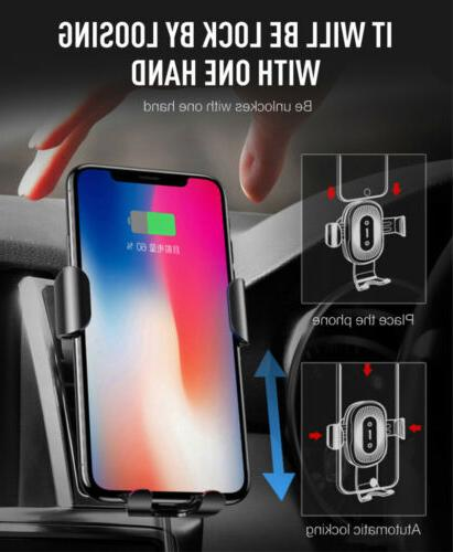 Car Fast Wireless Charger Stand Holder For Samsung Galaxy S8 S7