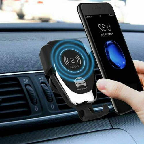 Car Wireless Charger Vent Holder iPhone