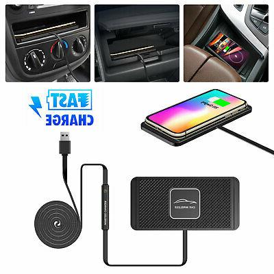 Qi Wireless Fast Charger Magnetic Car Mount Holder For iPhon