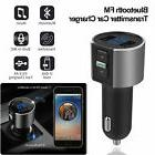 Car Wireless Bluetooth Kit Handsfree FM Transmitter Dual USB