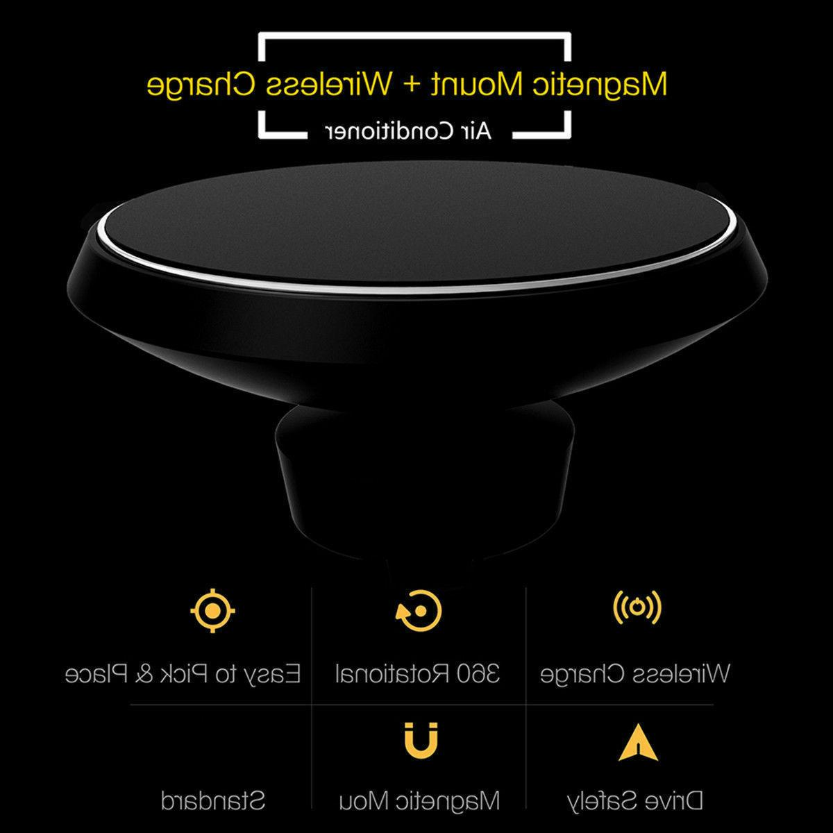 Fast Qi Wireless Charger Magnetic Phone Holder For X Max Xr 8