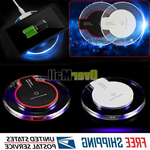 clear qi wireless fast charger charging pad