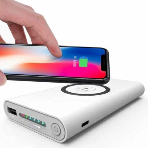 2 Wireless Charger Case Portable Battery US