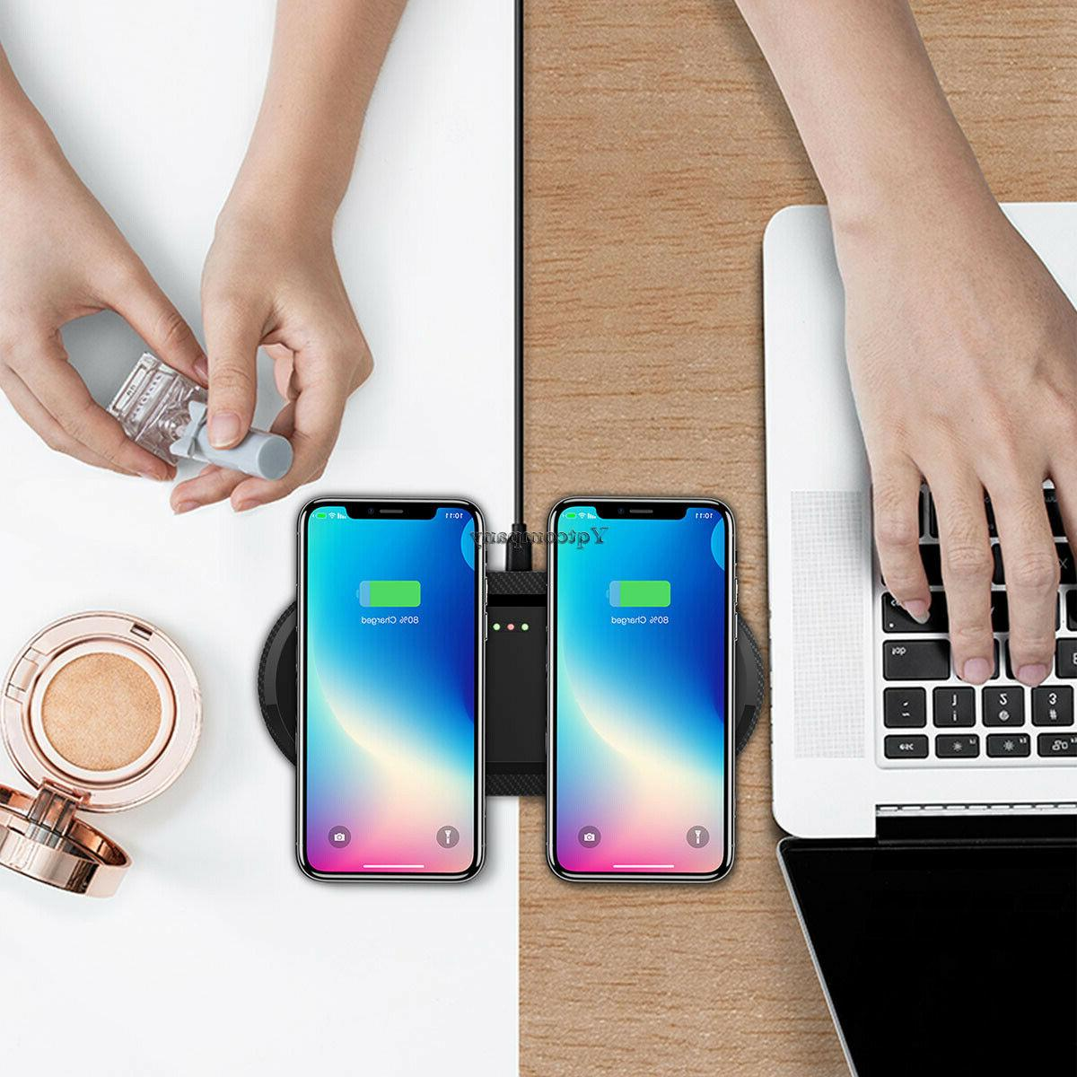 Dual/Single Wireless Charger Charging Pad Samsung S9 S8 S10