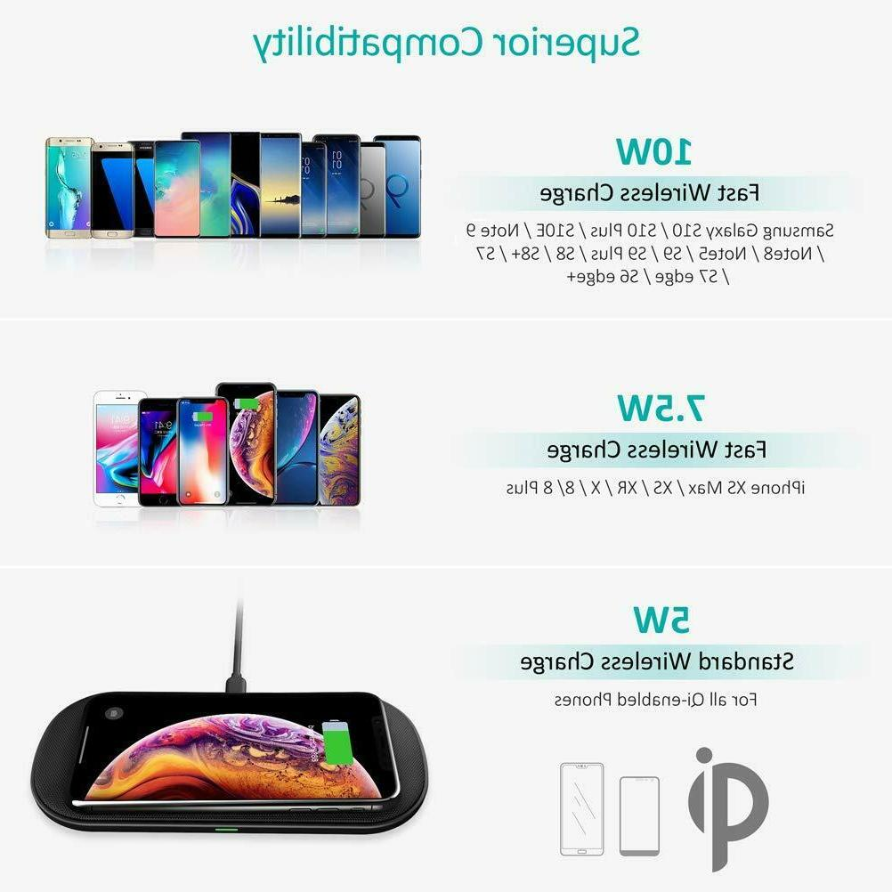 Dual Wireless Charger, 5 Coils Qi Certified Wireless