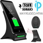 fast qi wireless charger charging pad stand