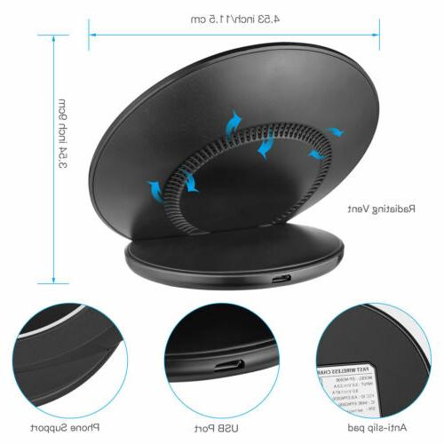 Fast Qi Wireless Charging Pad Stand for Samsung S7 Edge