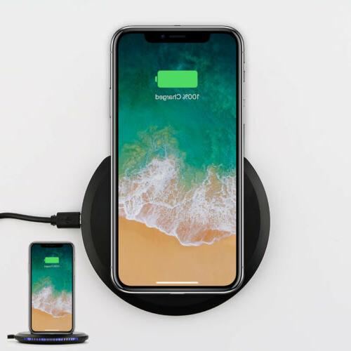 fast qi wireless charger pad stand adjustable