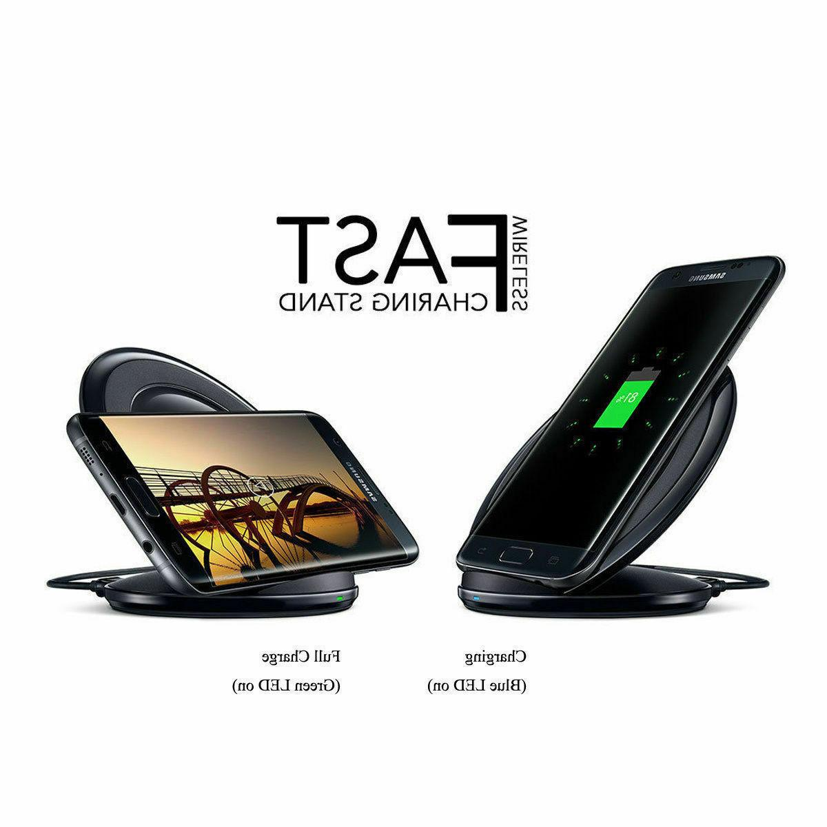 Fast Qi Wireless Stand Dock Samsung Galaxy S7 S9 Plus Note