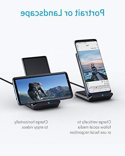 Anker Wireless 10W Wireless Charging Qi-Certified, Compatible iPhone Max/XS/X/8/8 S9/S9+/S8/S8+/Note 9 PowerWave Stand