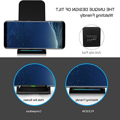 PLESON Wireless Charging Pad for Note Edge, for iPhone XS AC Adapter