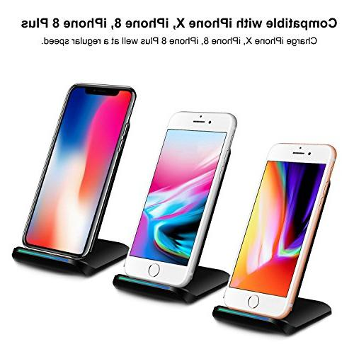 PLESON Fast Wireless for Galaxy S9/S9+ Note Edge, Charge for iPhone XS AC