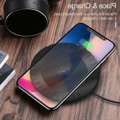 For XS S8 S9 S10+ Wireless Charger Fast Charging Pad