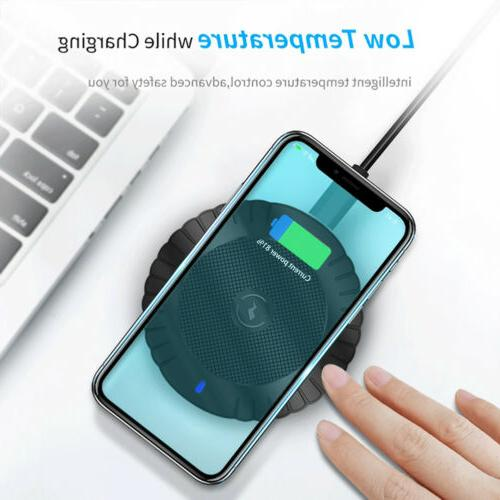 For 8 XS S9 S10+ Wireless Fast Charging Pad