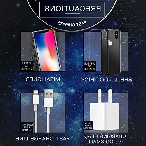 Fast Leather Charger Portable QI Charging for for Apple X/8/8Plus/7/7 plus/6s/6s Plus/6/6 plus/5s/SE,Samsung Galaxy etc