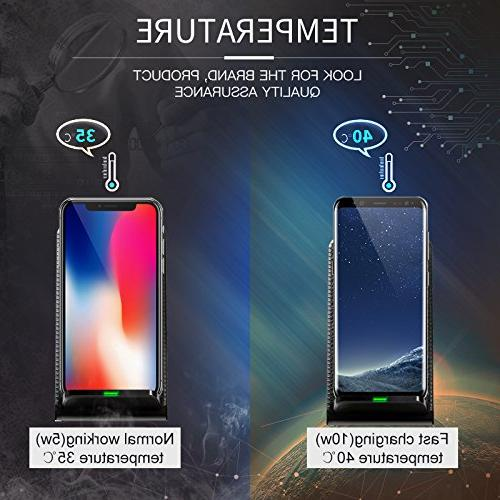 Fast Wireless Charger ivolks Leather Charger With Portable for for iPhone X/8/8Plus/7/7 Galaxy