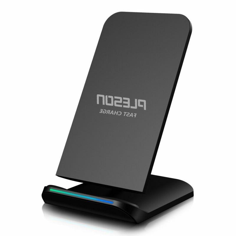 PLESON Fast Wireless Charger Qi Certified 10W Fast Wireless