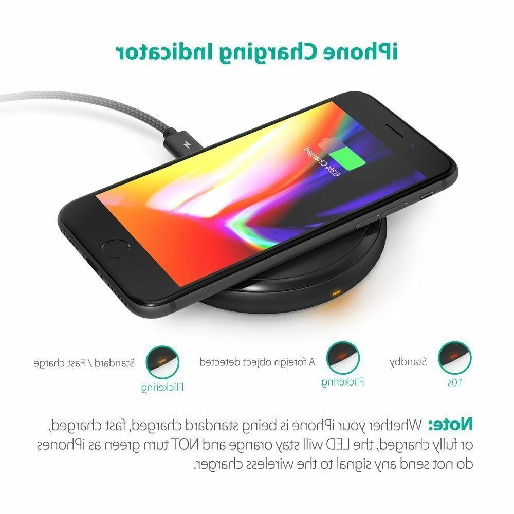 Fast Wireless Charger RAVPower Qi-Certified 10W