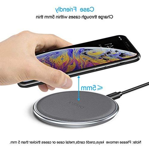 CHOETECH Fast Wireless Qi Zinc Alloy & PU Wireless Xs/XS Compatible Samsung 9,5W