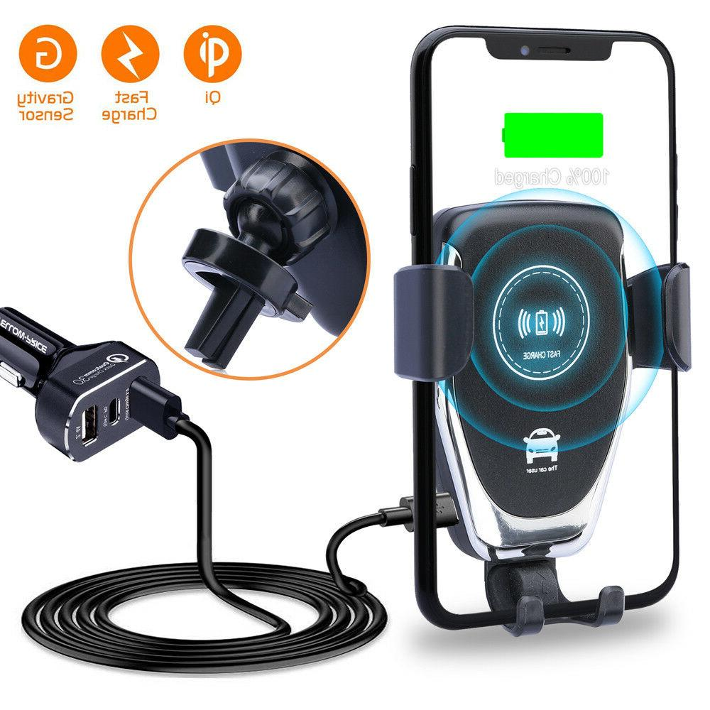 fast wireless chargers qi car mount wireless