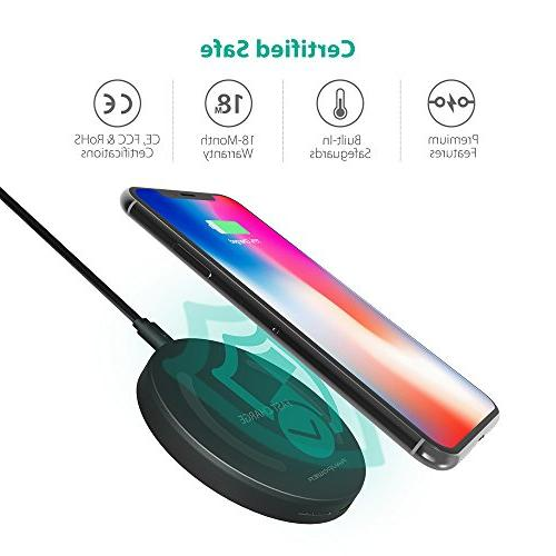 Wireless Charger Qi-Certified 10W Wireless Pad Charge S8+ S8 S7 S7 & for