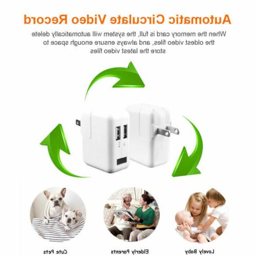 HD WiFi Security 1080P Camera Nanny USB Wall Adapter Plug US