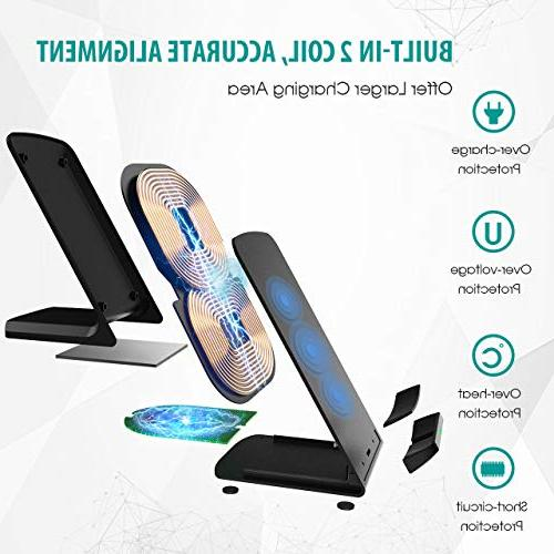 Wireless Charger, Certified Wireless Charging Compatible Max/XR/iPhone Galaxy and All