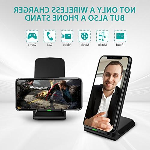 Wireless Charger, Certified Charging Compatible Max/XR/iPhone X/iPhone Galaxy Note and All QI-Enabled Device