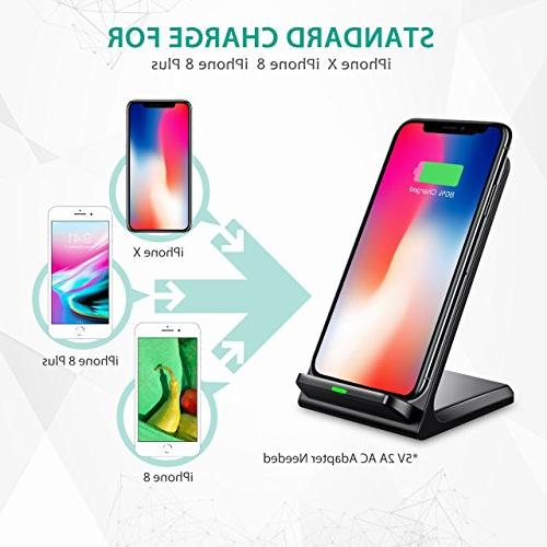 Wireless Qi Certified Charging Compatible with Max/XR/iPhone Galaxy Note 9/S9/S9+/Note8/S8 and All QI-Enabled
