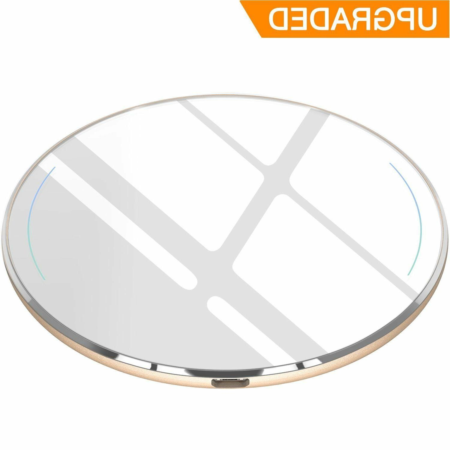 TOZO for iPhone X Wireless Fast Charger Ultra Thin Aviation