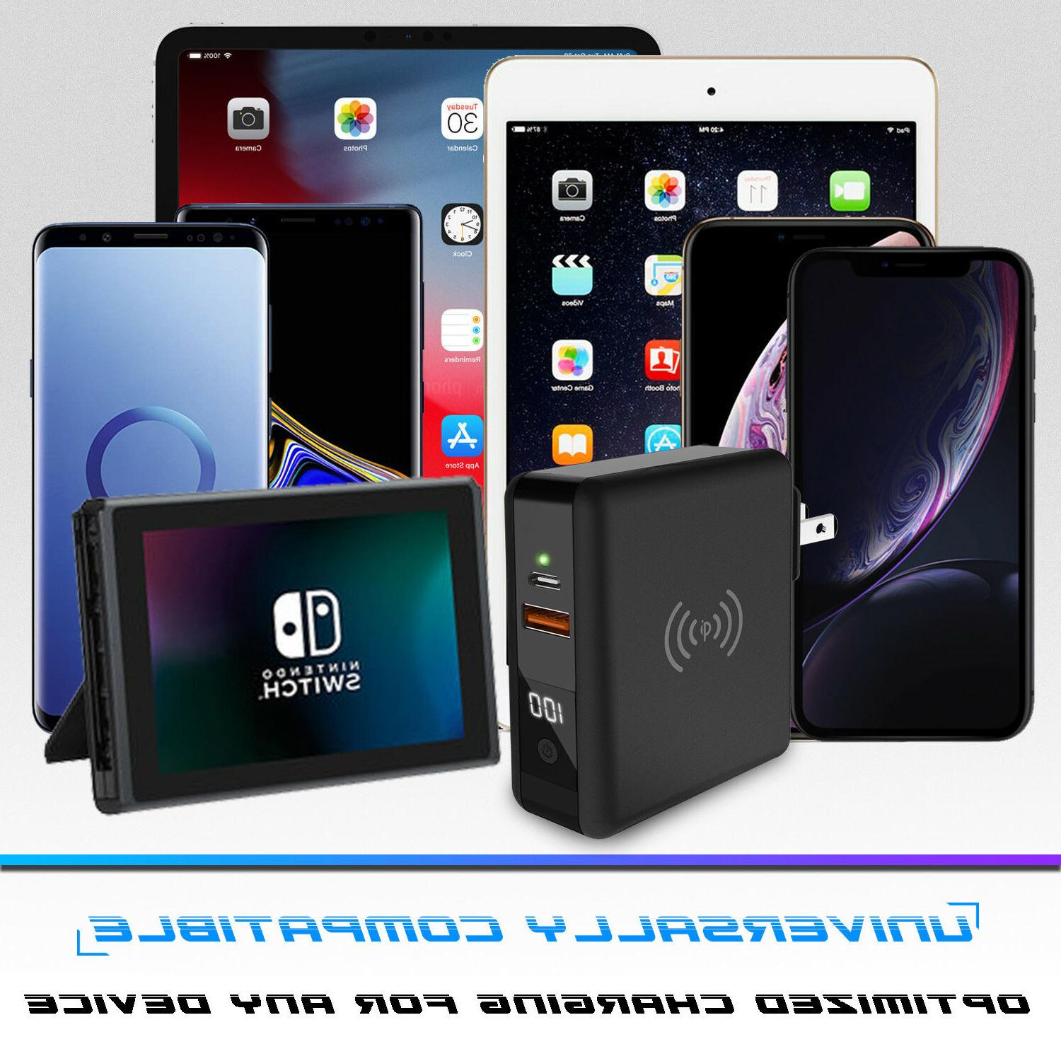 For iPhone 8000mAh Travel Portable Power Bank Wireless