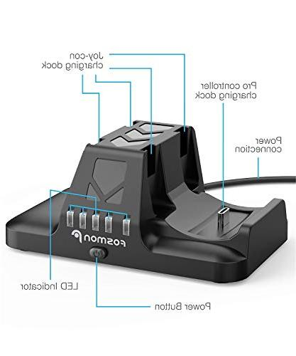 Fosmon Joy and 2-in-1 Docking Station with Power Cable for