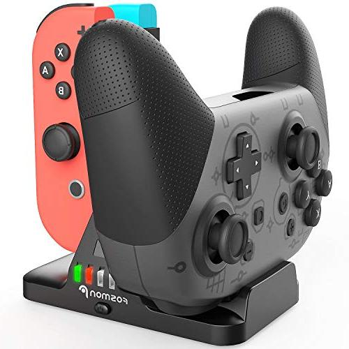Fosmon Pro Dock, 2-in-1 Station with Power Cable for Joycon Nintendo Switch Pro