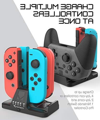 Fosmon Joy Con Pro Dock, 2-in-1 Station with USB Cable Nintendo Switch Controller
