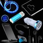 Kit Dock Wireless LED Car Charger Cable Headset Case For Sam