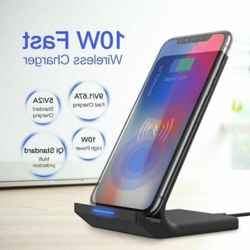 For Galaxy S8/ S9/ S10+ Qi Wireless Charging Stand