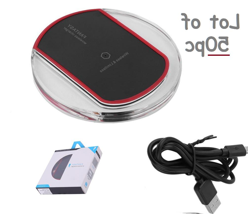LOT 50x LED Charger Qi Wireless Universal Fast Charging Dock