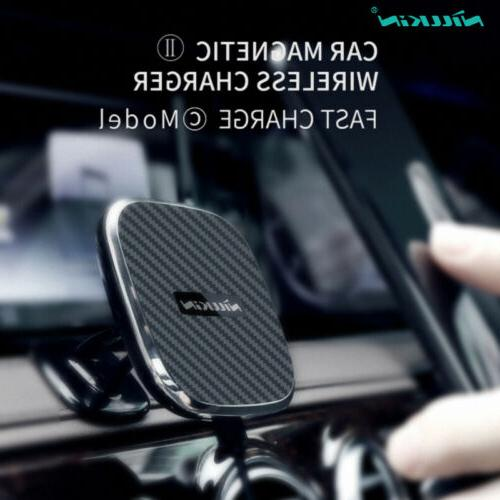 magnetic car holder mount fast wireless charger