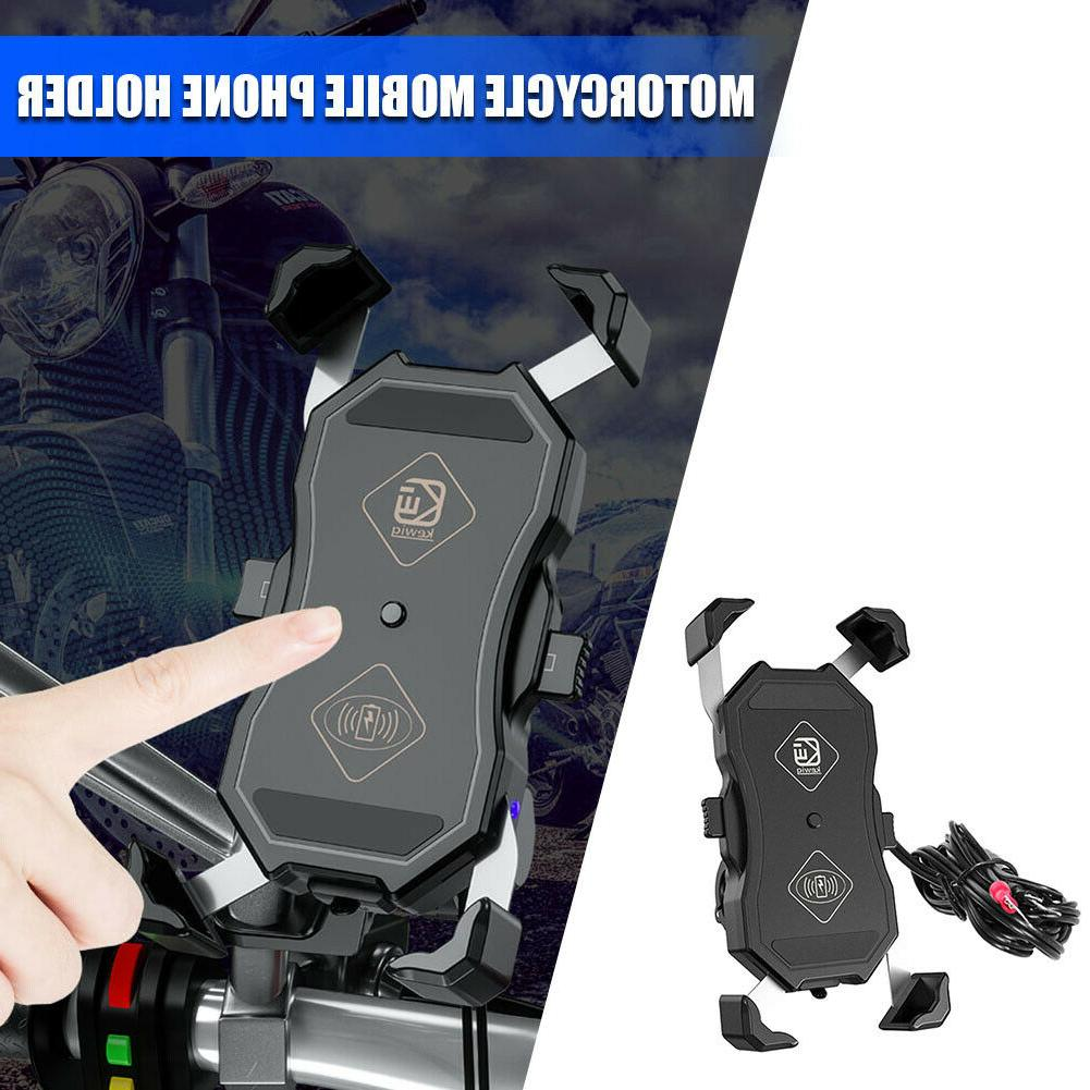 Motorcycle Phone USB Charger GPS Mount 12-24V