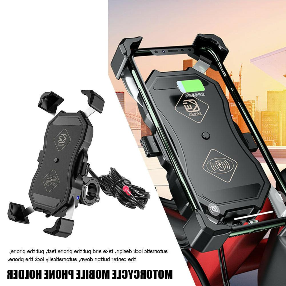 motorcycle phone holder 15w wireless qc 3