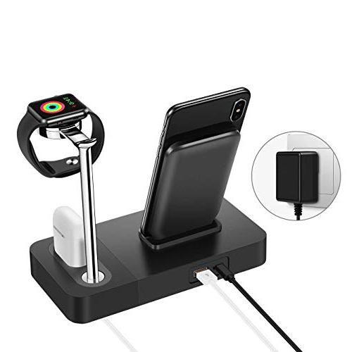 TGHUANG Multi-Function Compatible Wireless Charger/Airpods Charging Station/Apple Watch One-Stop Charging