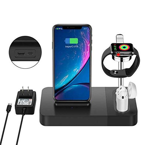 multi function compatible iphone wireless charger airpods