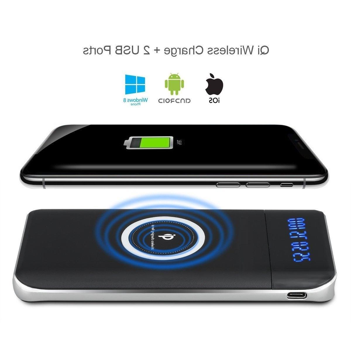 NEW 900000mAh Qi Wireless Charging 2 Charger