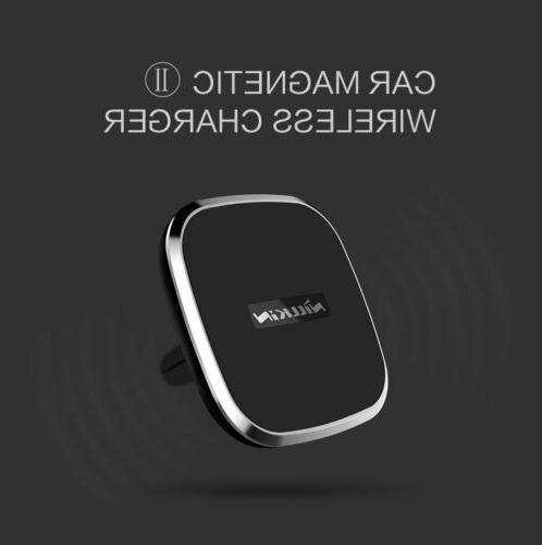 NILLKIN QI Stand Car Wireless Charger For Galaxy S9/S9+ S8/S