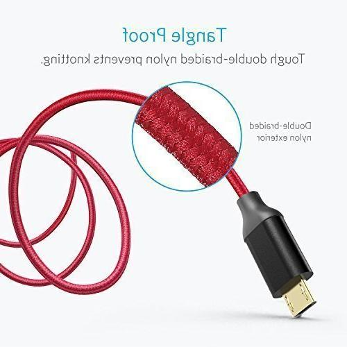 Anker / 0.9m Nylon USB Cable Gold-Plated Connectors for HTC, Nokia, Sony More