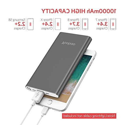 Yoobao Portable Charger Slim Bank External Phone Battery Backup Charger with Compatible iPhone Plus Galaxy More