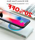 Power Bank Qi Wireless Charger For iPhone X 8 Plus Samsung S